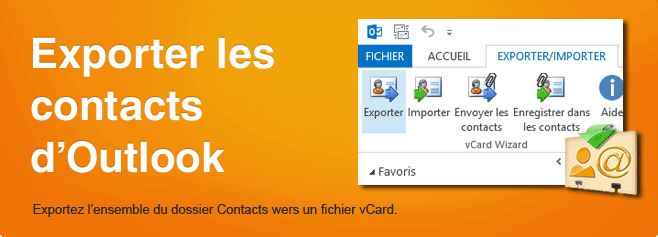 Exporter les contacts d'Outlook, iCloud, Google.
