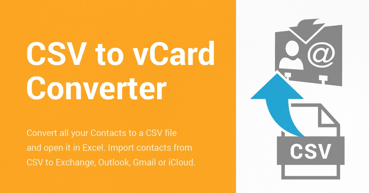CSV to vCard converter for easier contact managment