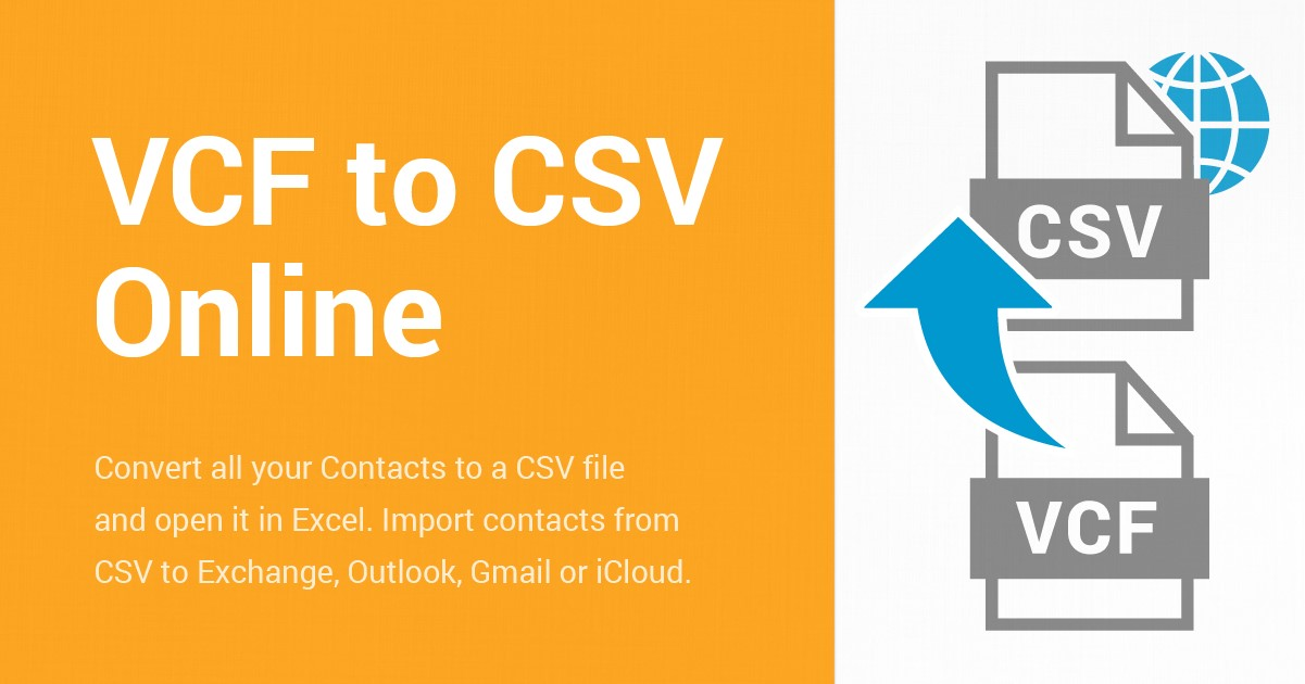 Convert VCF to CSV online using Free Contacts Converter software