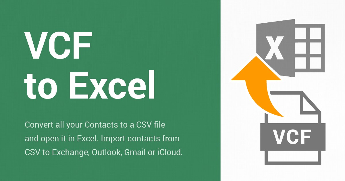 Convert VCF to Excel files using Free Contacts Converter software