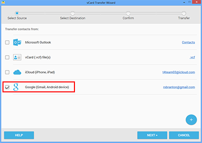 How to export Google contacts